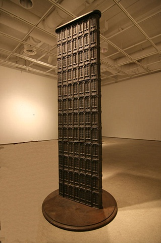 cast iron sculpture Architectural imagery, large-scale, by Vaughn Randall