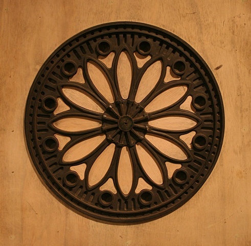 wood Pattern for Rosette Bobbin