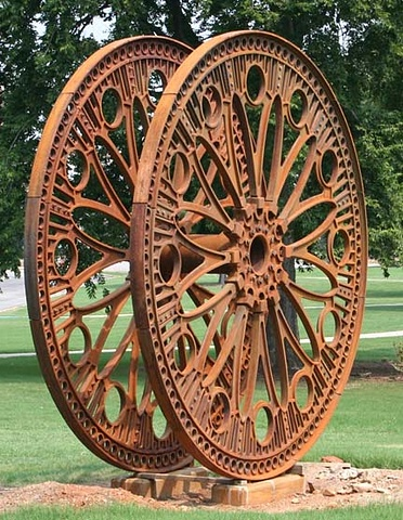 large scale outdoor cast iron sculpture