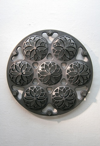 Cast iron Sculpture, wall sculpture, Vaughn Randall
