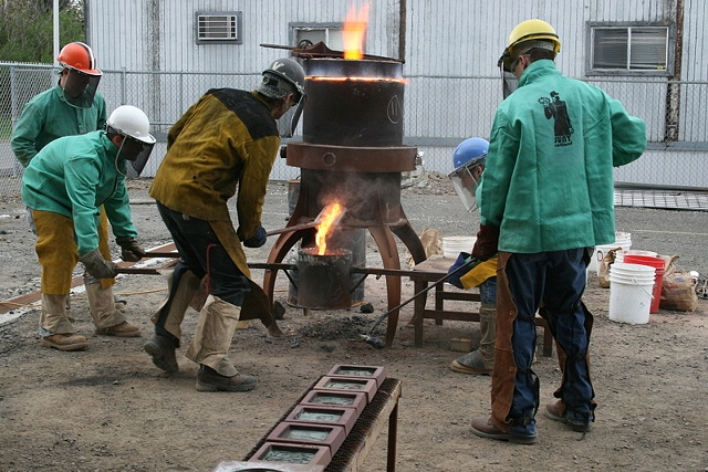 typical iron pour