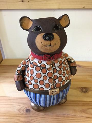 """Oh You"" Bear Jar"
