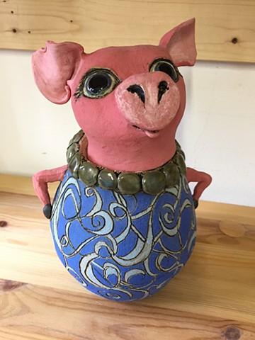 Sassy Pig Jar