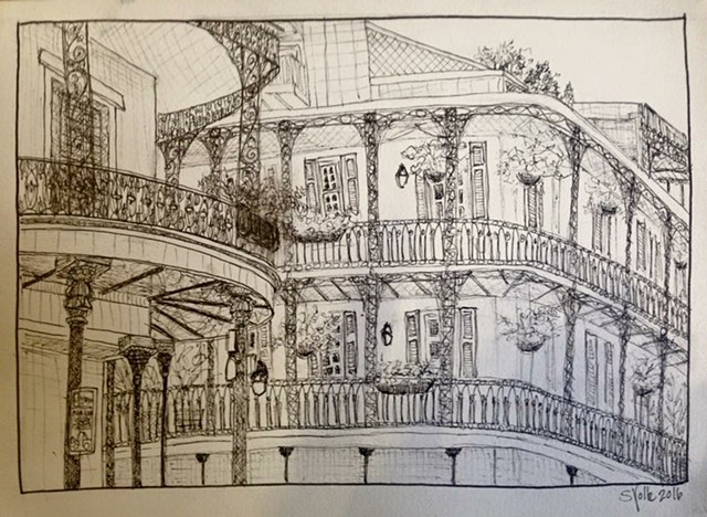 NOLA Balcony Study