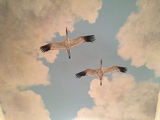Blue Skies Mural (detail)