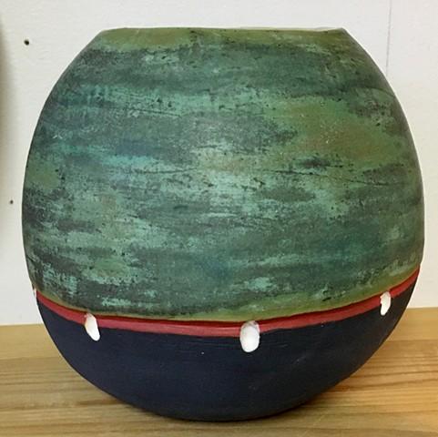 Copper Patina Vase