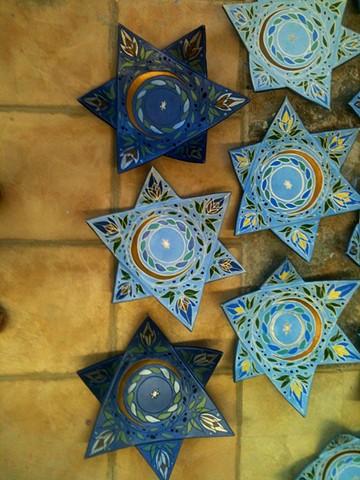 Star Platters University of Haifa Chicago Event Centerpieces