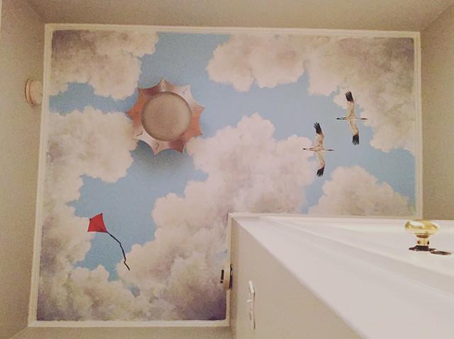 Blue Skies Mural