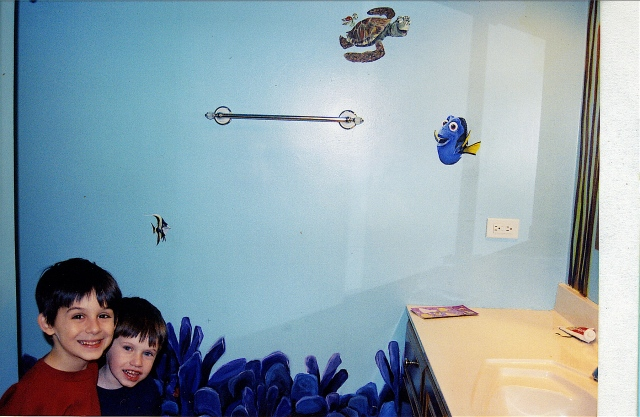 Underwater Mural for Children's Bathroom