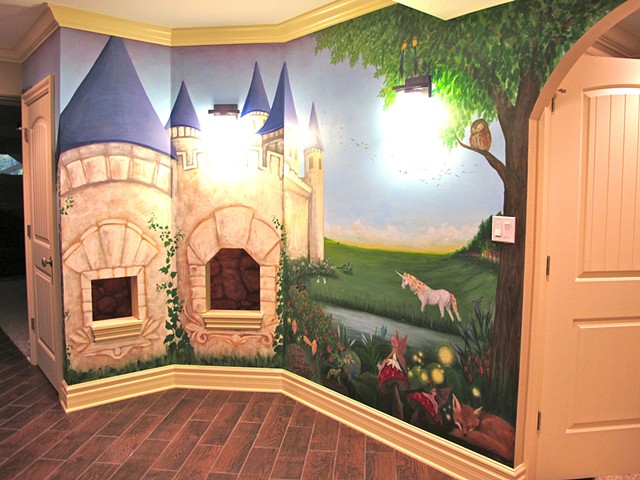 Magical Castle Mural