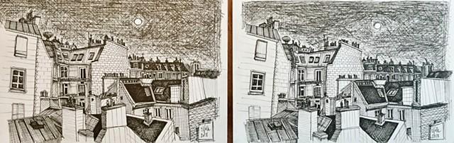 Paris Rooftops x2!