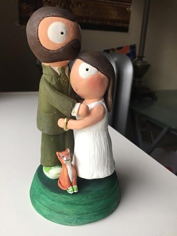 St Pats Wedding Cake Topper