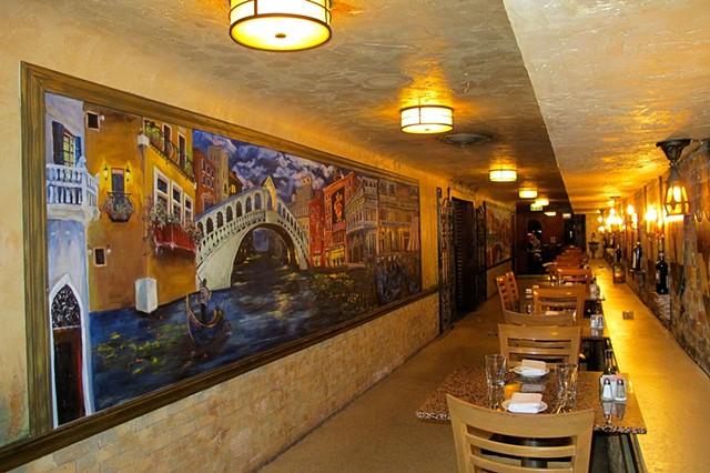 Italian Village Murals Full Installation