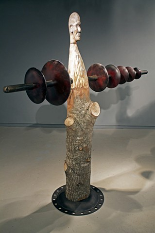 sculpture, found object, forge, metal fabrication