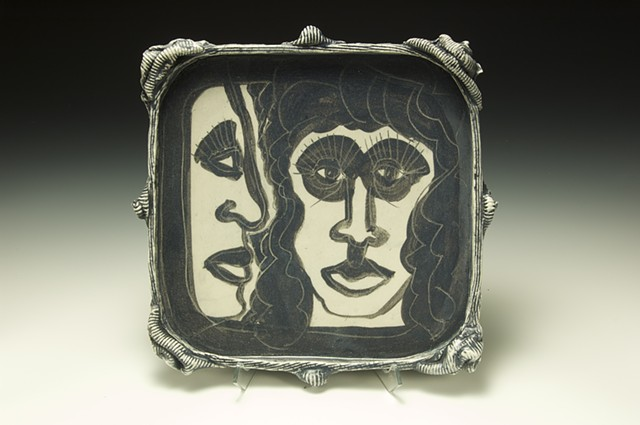 Two Faces Plate