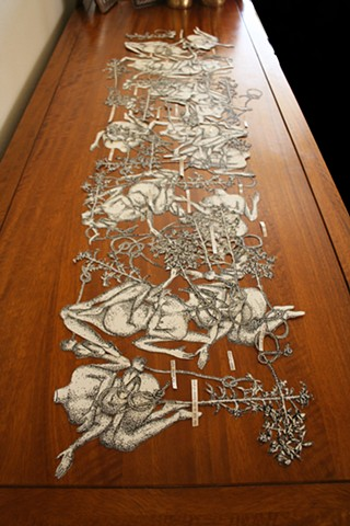 Preparatory drawings/cutouts for installation, 'The sum total of our existence'