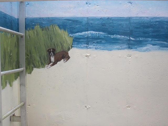 Left Side of the Mural- Dog Detail