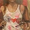 Striped Self Portrait