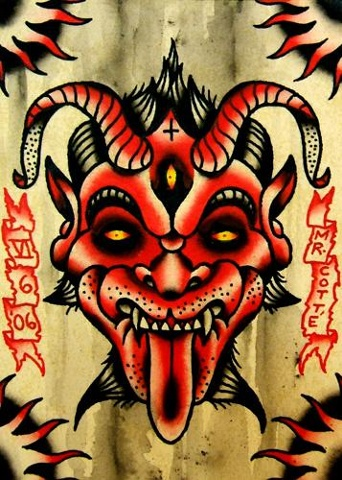 devil self portrait