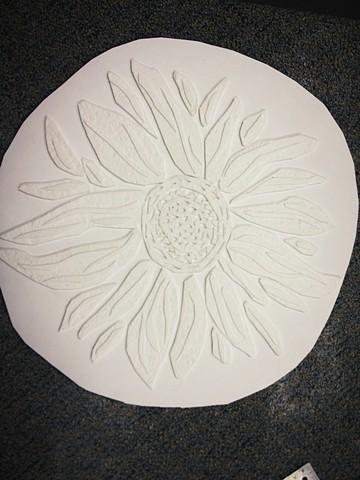 embossed sunflower