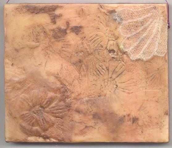 encaustic painting, mixed media, photo transfer