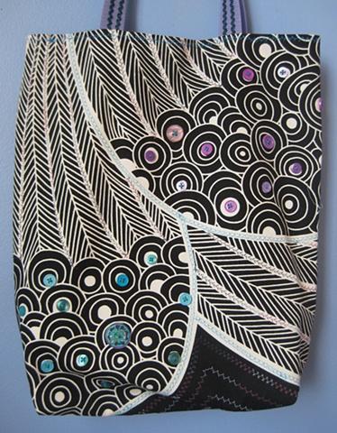 embellished market bag