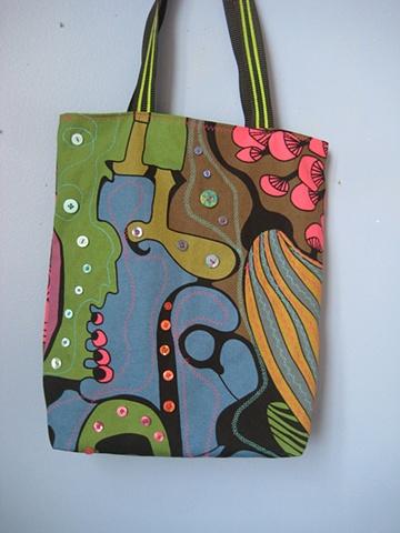 embellished market bag, shoulder bag,