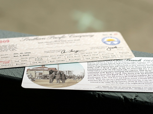Ticket given to participants once they arrived at the depot.