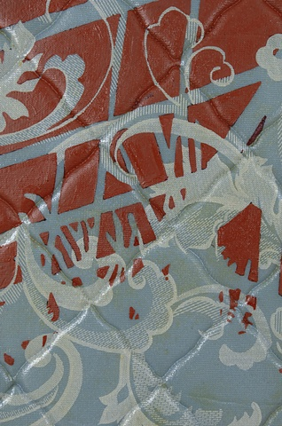 Red on Blue Hothouse, detail