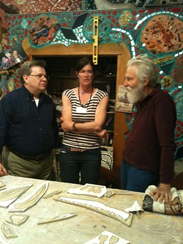 Isaiah Zagar & Friends in studio