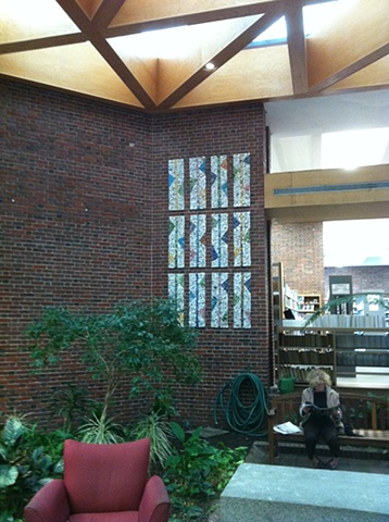 More Brookline Town-wide Mosaic Installation Coolidge Corner Library, Brookline, MA