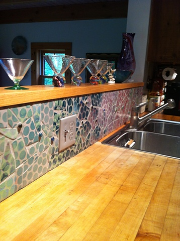 Mosaic Backsplash: VT home