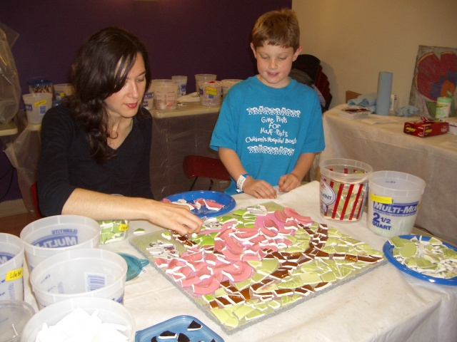 Childrens Hospital Mosaic Workshop