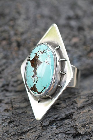 sterling silver, turquoise