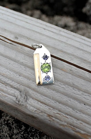 peridot and tanzanite pendant
