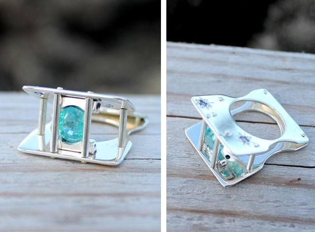 sterling silver, apatite