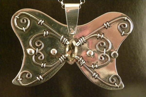 butterfly (#203), necklace