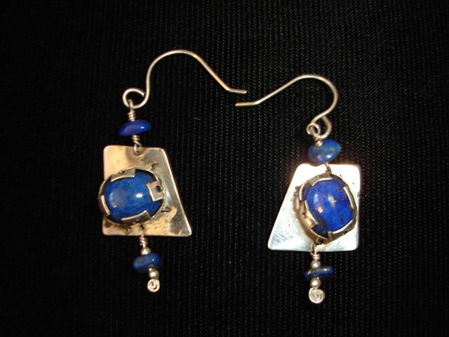 sterling silver with lapis earrings