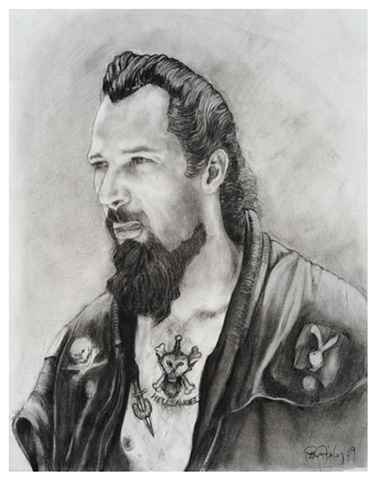 Study for biker portrait