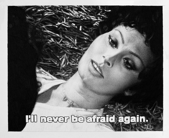 Subtitled Film Still: I'll Never Be Afraid Again