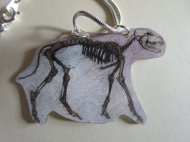 023 old dingo skeleton necklace original front side