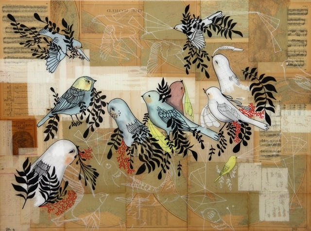 Birds of Past and Present 36x48
