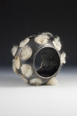 wool reliquary bracelet