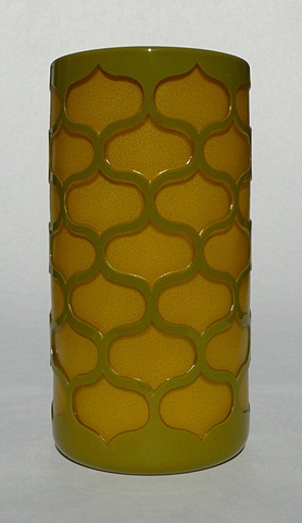 Olive and Mustard Geo Cylinder