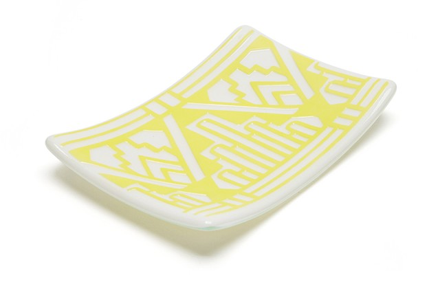 Jewelry Plate Geo (Yellow)