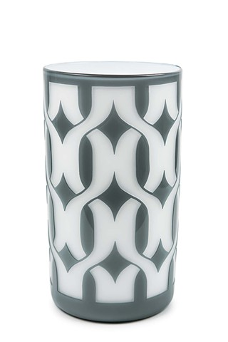 Grey Geo Interlocking Cylinder