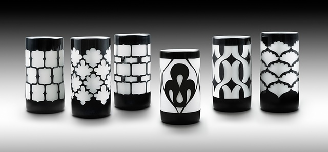 Black and White Mini Cylinders #1