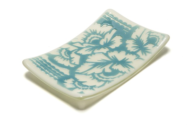 Jewelry Plate Floral (Blue)