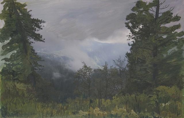 Photo Painting of Yosemite Landscape