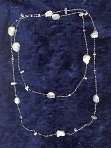 Opera Length Mixed Pearl Twist Necklace